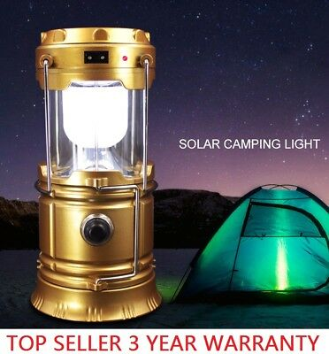 Solar 6 LED Portable Light Rechargeable Lantern Outdoor Camping Hiking Lamp - Led Lantern Lights