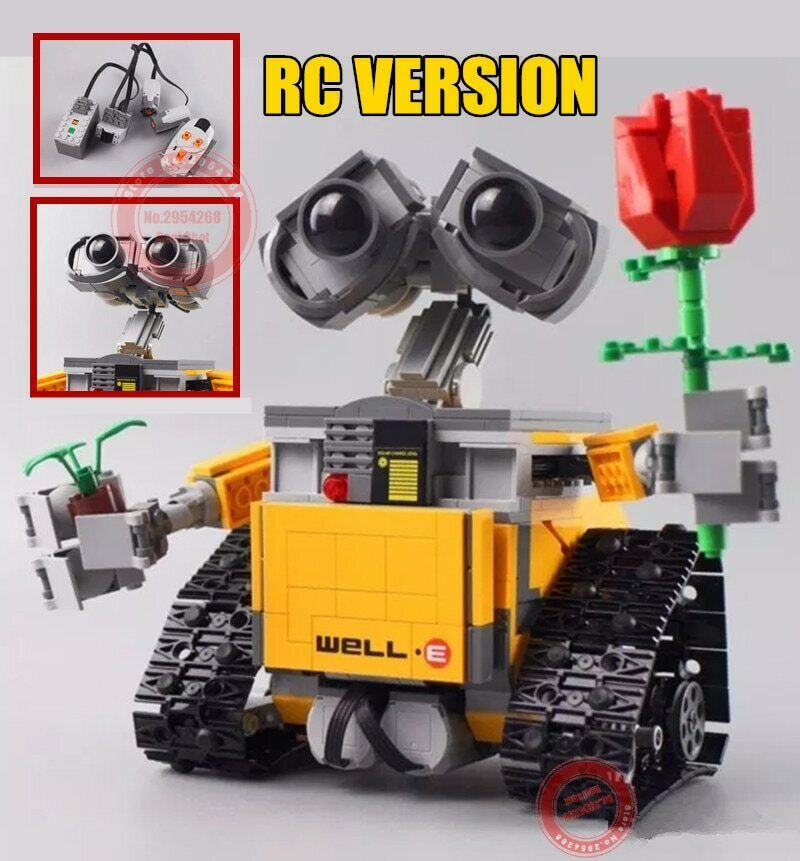 Remote Control Wall E Robot New Lego Building Block Gift Games Figure Action Toy Building Toys