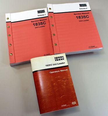 Case 1835c Uni-loader Skid Steer Owners Operators Service Repair Shop Manuals
