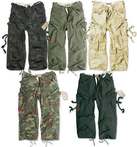SURPLUS-ENGINEER-VINTAGE-3-4-LENGTH-SHORTS-COMBAT-CARGO-ARMY-MILITARY-QUARTER