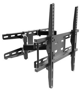 Articulating Dual Arm Swivel Tilt LCD LED TV WALL Mount Bracket 37 42 47 49 50 55""