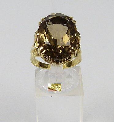 Ring aus 585er Gold mit Rauchquarz, Gr. 58/Ø 18,5 mm  (da4895)