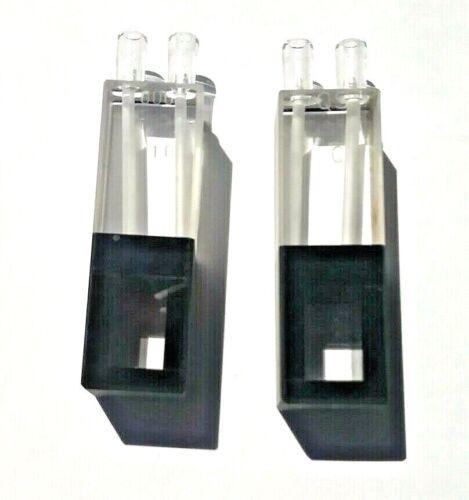 2  Quartz Micro Flow Cell Cuvettes 1.000 cm  QS