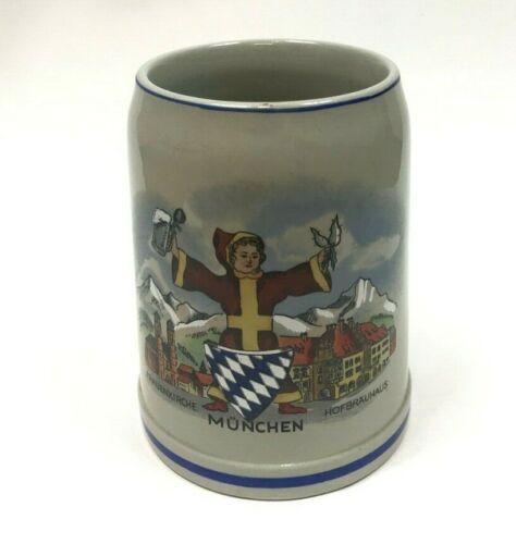 Vintage German Beer Stein Munchen Frauenkirche Hofbrauhaus Collectible 0.5L Mug