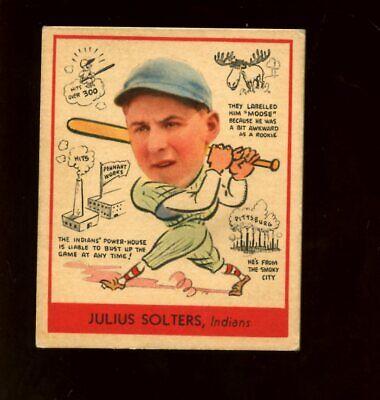 1938 Goudey R323 Baseball Card #279 Julius Solters EX+