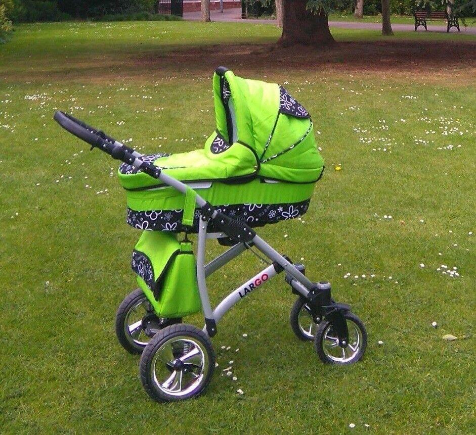 Baby Pram Pushchair Stroller Largo 2in1 Travel System Car