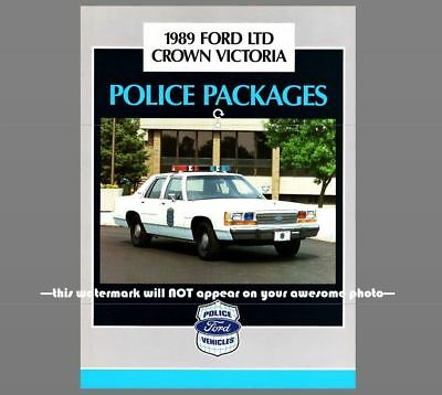 1989 Ford Crown Victoria Police Car PHOTO Vintage Ad Policeman Officer Vehicle