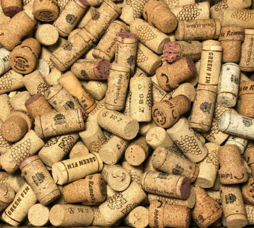 100 ASSORTED NATURAL USED WINE CORKS - Repurpose - Upcycle For Crafts