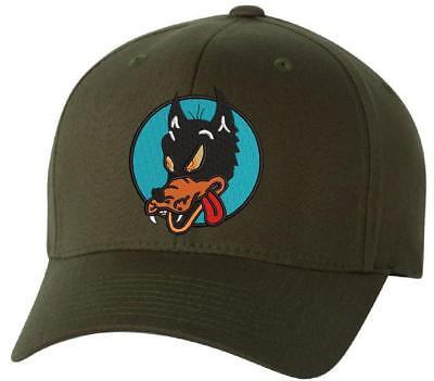 Grateful Dead Wolf Embroidered Flexfit Ball Cap Black, Navy or Olive - Var. Size - Wolf Hat