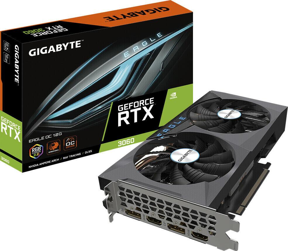 GIGABYTE EAGLE OC GeForce RTX 3060 12GB GDDR6 Gaming LHR Grafikkarte