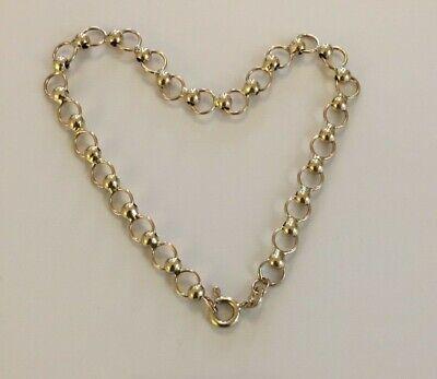 "LOVELY LADIES ITALIAN VINTAGE 9CT GOLD FANCY CIRCULAR LINK BRACELET CHAIN-7 3/4"""