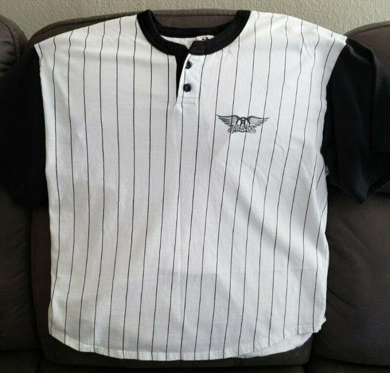 Aerosmith Concert Baseball Jersey Shirt XL, ORIGINAL (Pre-Worn)