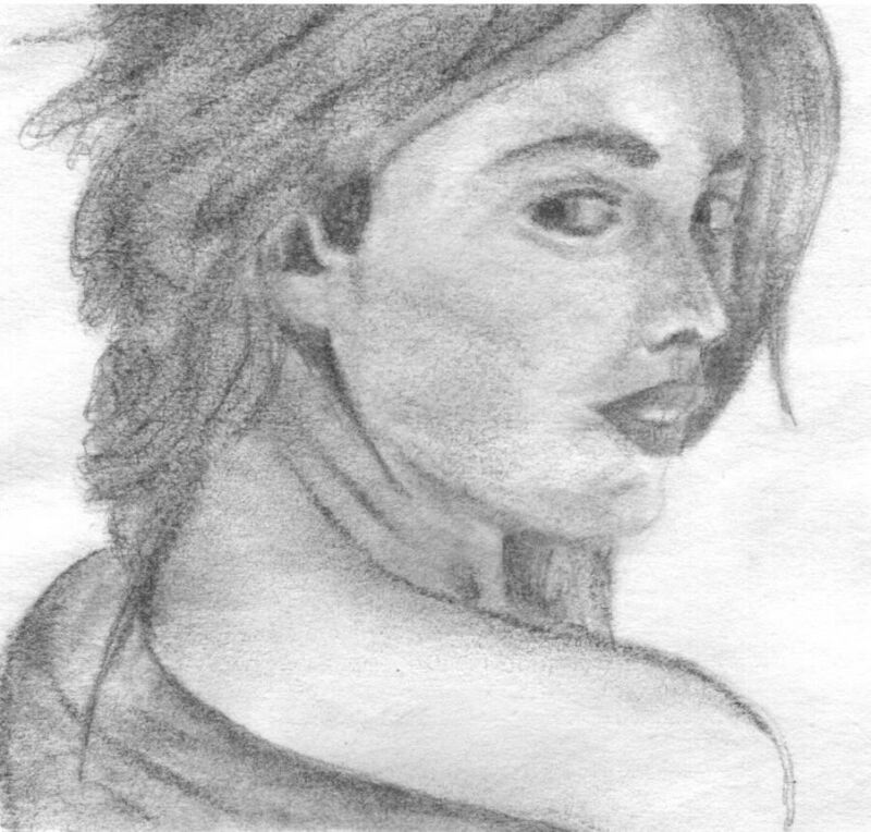 Picture to charcoal portrait Pets people or children (3-5 subjects)