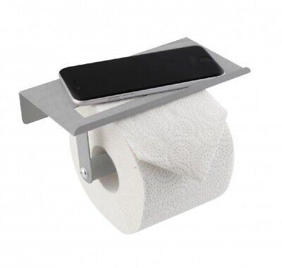WC Rollenhalter mit Ablagefläche Rollenhalter Wandmontage pulverbeschichtet KULT
