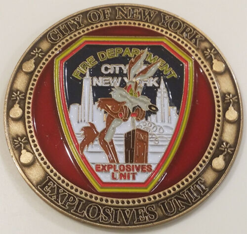 Fire Department City of New York Explosives Unit FDNY Challenge Coin (not NYPD)