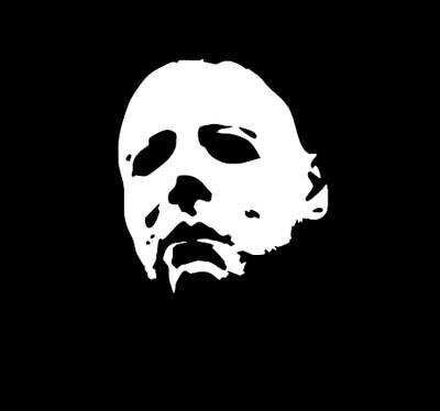 Michael Myers Sticker - Halloween Movie Mask Window Wall Decal Scary Creepy - Scary Halloween Window