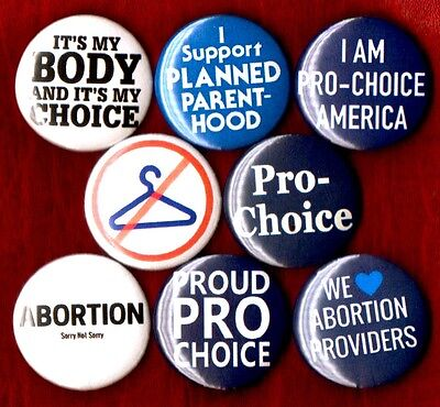 Pro Choice 8 New Button Pin Badge My Body My Choice Planned Parenthood