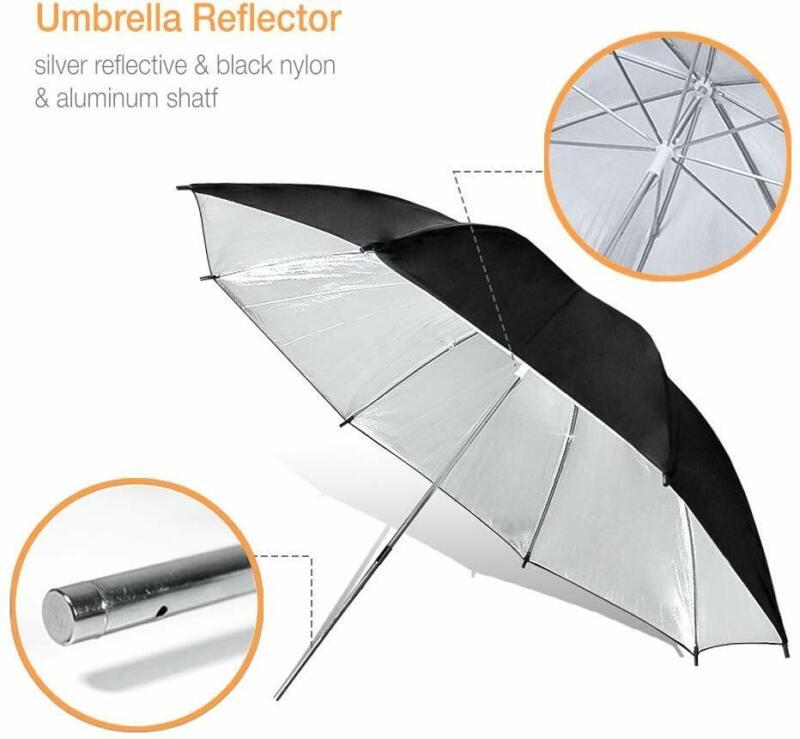 "1PACK Photography 40"" Black/Silver Umbrella Light Modifier for Photo Studio"