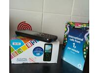 Mobile phone with sim and £10 topup