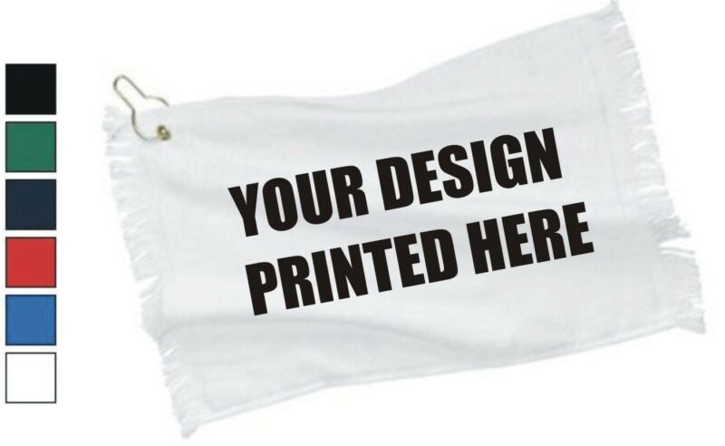 50 Custom Screen Printed Towels with Grommet - $3.50 each