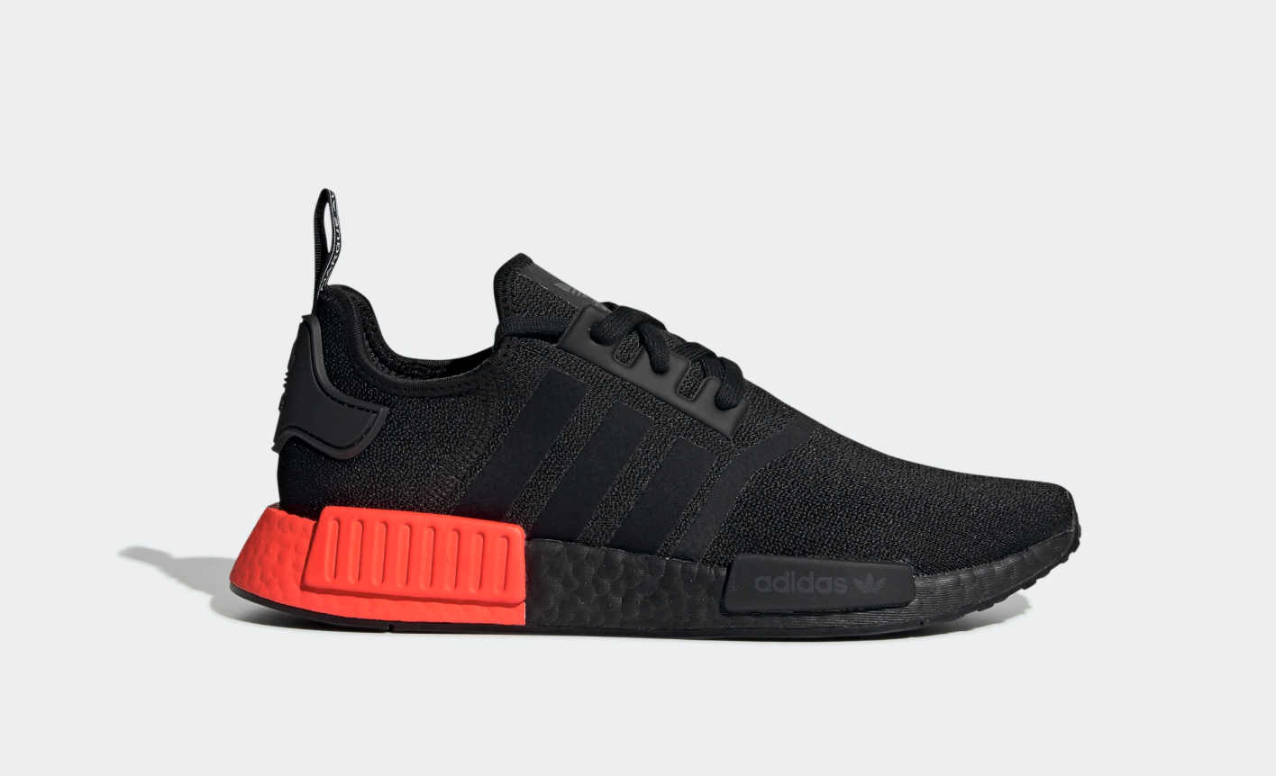 Details about adidas NMD R1 Core Black Solar Red F35881 100% AUTHENTIC Last Size US Running DS