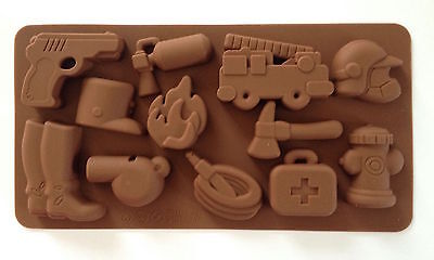 Fire Truck Cupcakes (Fire Truck Ambulance Cake Chocolate Silicone Mold Cupcake Baking Candy First)