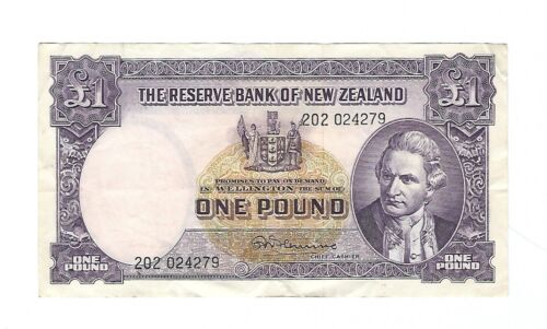 New Zealand -  One (1) Pound, 1956-67