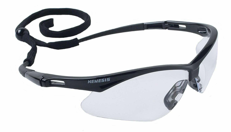 Jackson Nemesis V30 Safety Glasses/Sunglasses Various Colors & Quantities  25676 - Black Frame/Clear Lens