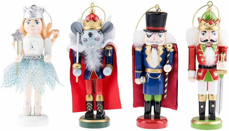 Clever Creations Tchaikovsky Nutcrackers Ornament Set - Mouse King, Herr