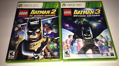 LEGO Batman 2 + 3 Beyond Gotham DC Heroes - XBOX 360 Games Disc's Are Near Mint