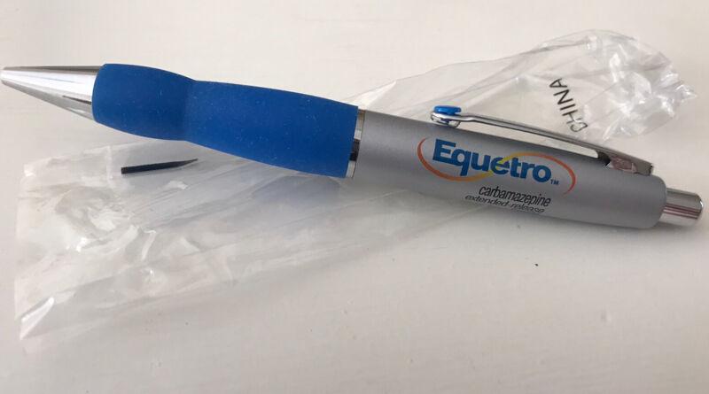 Equetro drug rep pen collectible Rare Style Metal Click Top Black Ink