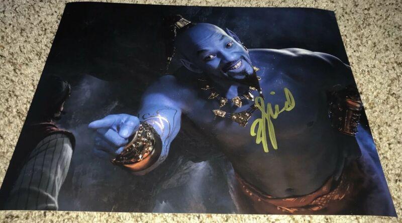Will Smith Signed 11x14 Photo Aladdin Genie with proof