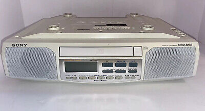 Sony ICF-CD513 Under Cabinet Counter Kitchen Clock Radio AM FM CD Player Tested