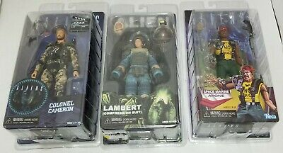 Lot of 3 USED NECA ALIENS Action Figures ~ Colonial Cameron ~ Apone ~ Lambert, used for sale  Shipping to India