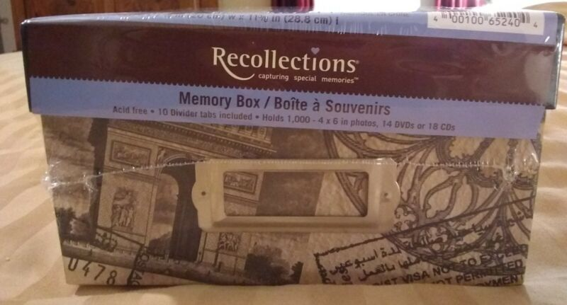 Recollections WONDERS OF THE WORLD Memory Storage Box - Photos,DVD