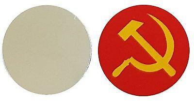 RUSSIA martello e falce metallo Marcatore pallina da golf CERCHIO 25MM DIAMETRO