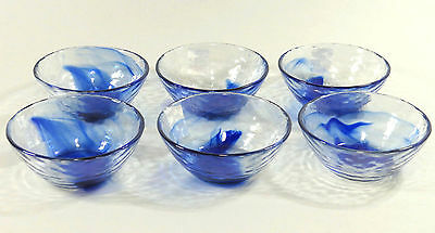 Bormioli Rocco Murano - Dessert Schalen - Glasschalen - Blau - 6 Stück - Neu
