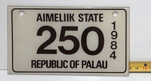 AIMELIIK STATE - 1984 motorcycle license plate - very nice all original # 250
