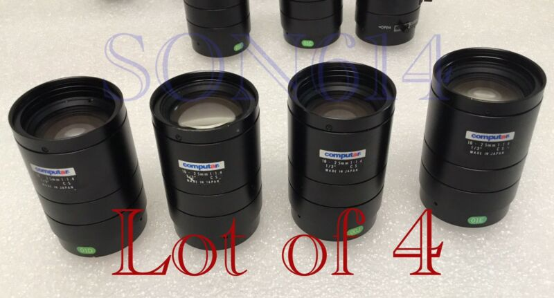 "Lot 4 COMPUTAR Lens 10-25mm 1/3"" CS 1:1.4 For CCTV Security Surveillance Camera"