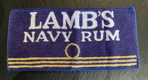 Vintage Pub Towel Beer Bar Accessory Man Cave Lambs Navy Rum