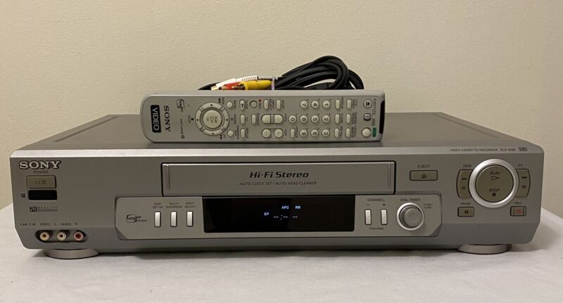 Sony SLV N80 VCR Hi-Fi Stereo 4 Head OEM Sony Remote Tested VCR Plus Gold NICE