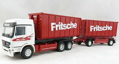 Conrad 40156/0 Mercedes Actros 3-axle Recycling Roll-Off Container FRITSCHE 1:50
