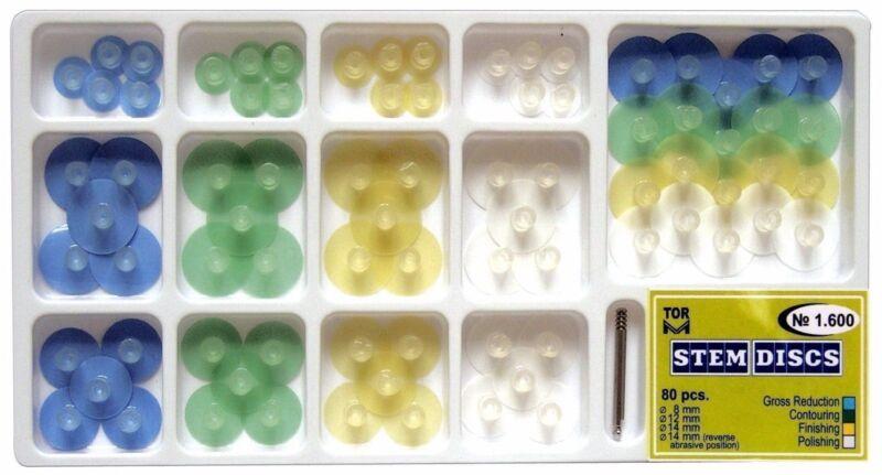Dental Composite Finishing Polishing Stem Discs kit 80pcs as Shofu + mandrel