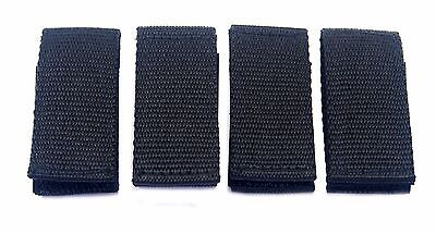 4 Police Security Guard Black Nylon Duty Belt Keepers Hook Loop Fit Belts 2