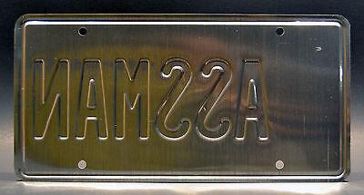 Seinfeld / Cosmo Kramer's Impala / ASSMAN *STAMPED* Prop Replica License Plate