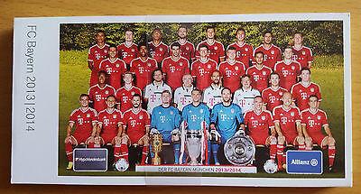 FC Bayern München 2013 14 Autogrammkartensatz Repro