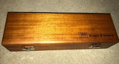 Beautiful Brown Sharpe Wood Box Ec
