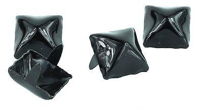 100 Black Pyramid Metal Studs Leathercraft Rivet Bullet Spikes