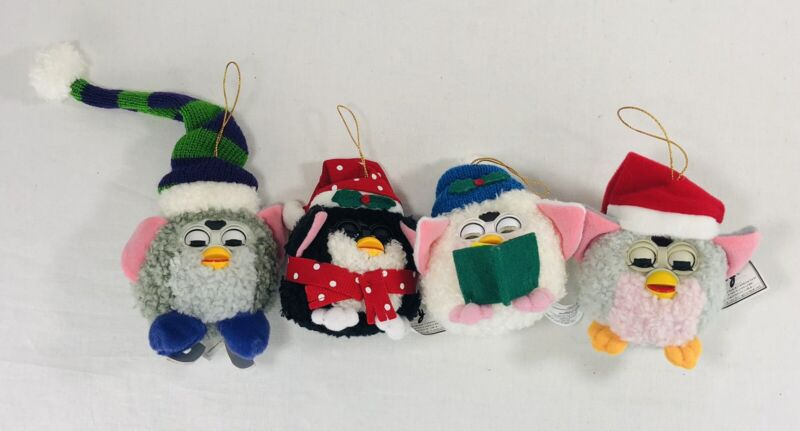 Furby Christmas Ornaments Lot of 4