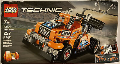 LEGO Technic Race Truck 42104 Pull-Back Model Truck Building Kit 227 Pieces New!